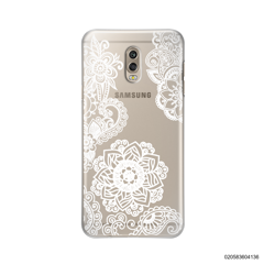 FLOWER IN HENNA STYLE - WHITE - Samsung Galaxy J7 Plus