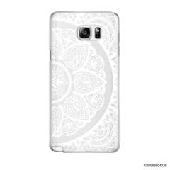 HALF OF MANDALA - WHITE - Samsung Galaxy Note 5