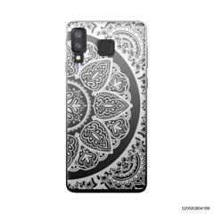 HALF OF MANDALA - WHITE - Samsung Galaxy A8 Star