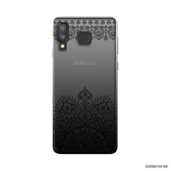 MANDALA AND FRILL LINES - BLACK - Samsung Galaxy A8 Star