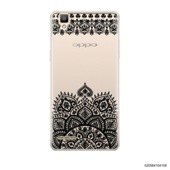 MANDALA AND FRILL LINES - BLACK - Oppo F1