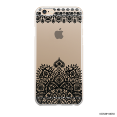 MANDALA AND FRILL LINES - BLACK - iPhone 6/6s Plus