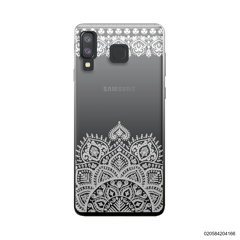 MANDALA AND FRILL LINES - WHITE - Samsung Galaxy A8 Star