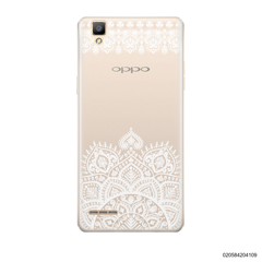 MANDALA AND FRILL LINES - WHITE - Oppo F1