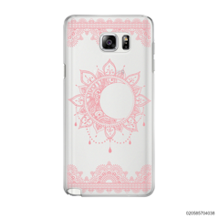 NEW MOON AND FRILL LINES - PINK - Samsung Galaxy Note 5