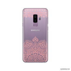 MANDALA AND FRILL LINES - PINK - Samsung Galaxy S9 Plus