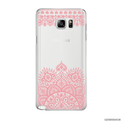 MANDALA AND FRILL LINES - PINK - Samsung Galaxy Note 5