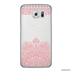 MANDALA AND FRILL LINES - PINK - Samsung Galaxy S6 Edge