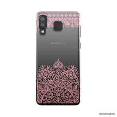 MANDALA AND FRILL LINES - PINK - Samsung Galaxy A8 Star