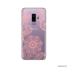 FLOWER IN HENNA STYLE - PINK - Samsung Galaxy S9 Plus
