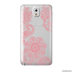 FLOWER IN HENNA STYLE - PINK - Samsung Galaxy Note 3
