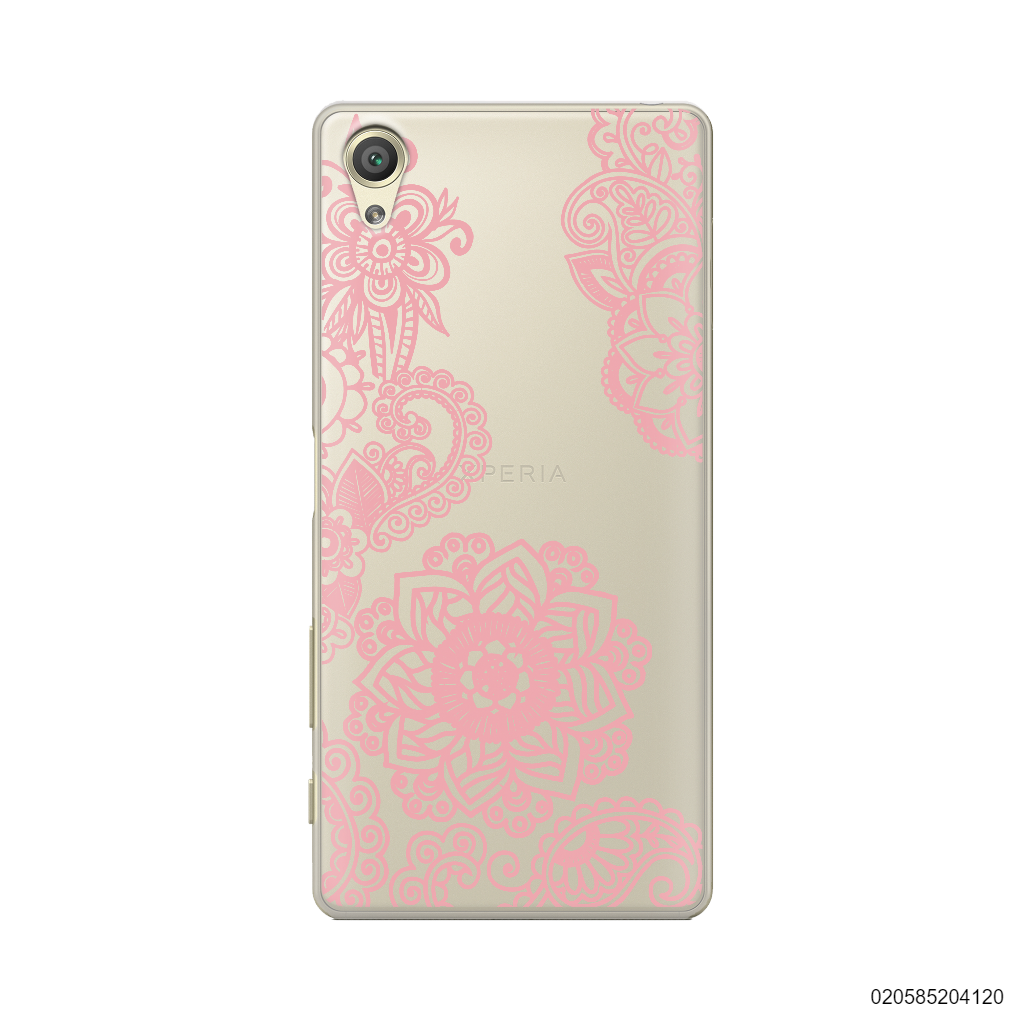 FLOWER IN HENNA STYLE - PINK - Sony Xperia X