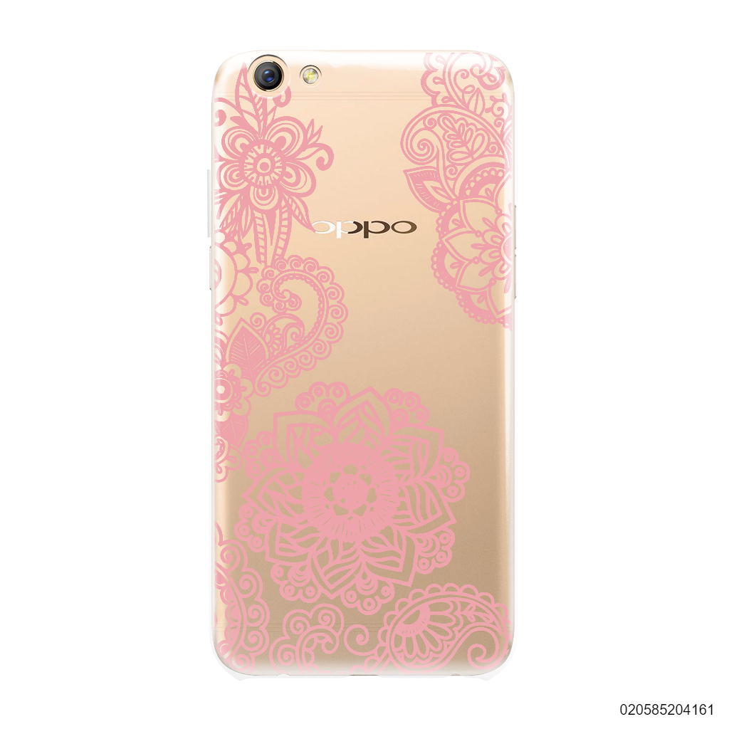 FLOWER IN HENNA STYLE - PINK - OPPO F3 Plus