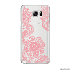FLOWER IN HENNA STYLE - PINK - Samsung Galaxy Note 5