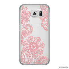 FLOWER IN HENNA STYLE - PINK - Samsung Galaxy S6 Edge