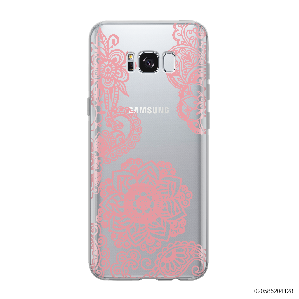 FLOWER IN HENNA STYLE - PINK - Samsung Galaxy S8 plus