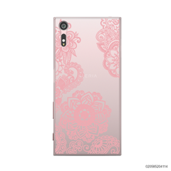 FLOWER IN HENNA STYLE - PINK - Sony Xperia XZ