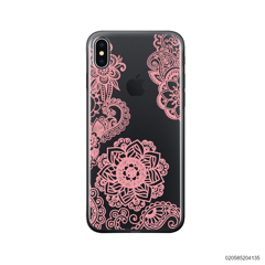 FLOWER IN HENNA STYLE - PINK - iPhone X/ Xs