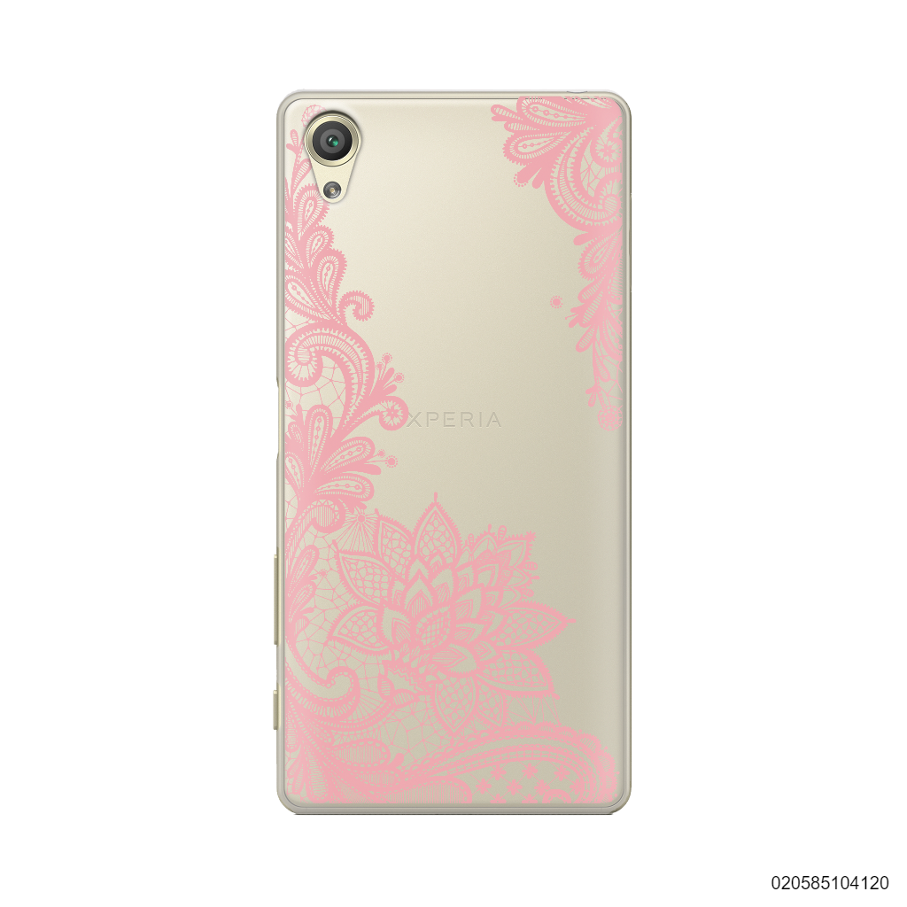FLORAL HENNA STYLE - PINK - Sony Xperia X