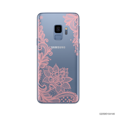 FLORAL HENNA STYLE - PINK - Samsung Galaxy S9