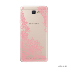 FLORAL HENNA STYLE - PINK - Samsung Galaxy J5 Prime