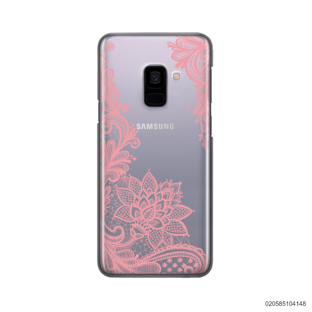 FLORAL HENNA STYLE - PINK - Samsung Galaxy A8 2018