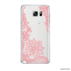 FLORAL HENNA STYLE - PINK - Samsung Galaxy Note 5