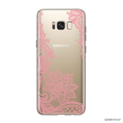FLORAL HENNA STYLE - PINK - Samsung Galaxy S8