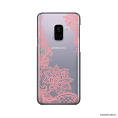 FLORAL HENNA STYLE - PINK - Samsung Galaxy A8 Plus 2018