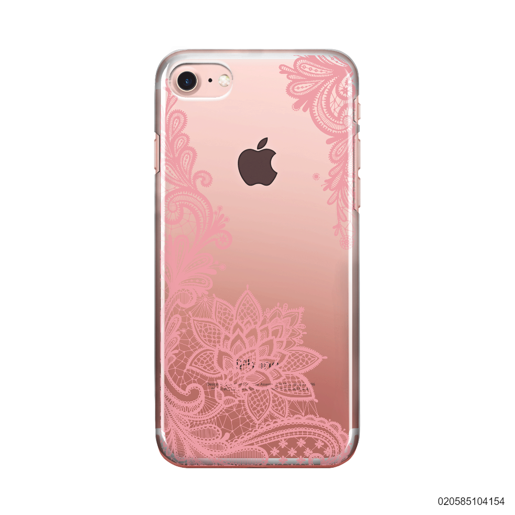 FLORAL HENNA STYLE - PINK - iPhone 8