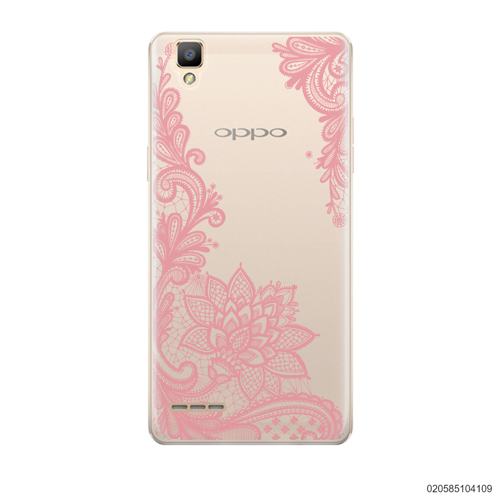 FLORAL HENNA STYLE - PINK - Oppo F1