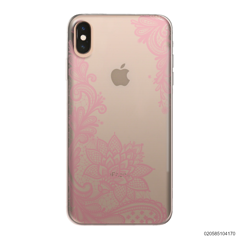 FLORAL HENNA STYLE - PINK - iPhone XS Max