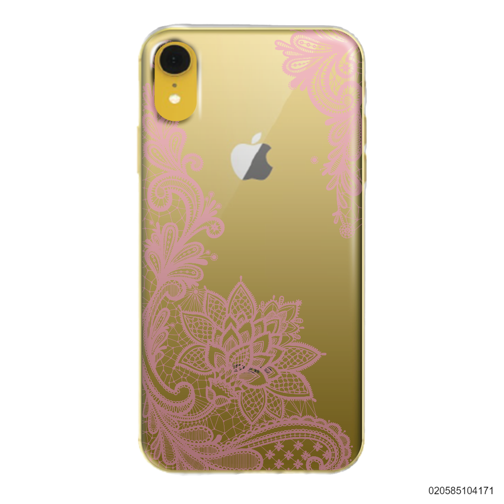 FLORAL HENNA STYLE - PINK - iPhone XR