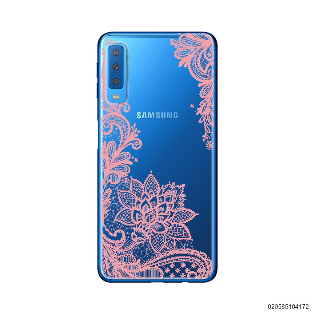 FLORAL HENNA STYLE - PINK - Samsung Galaxy A7 2018