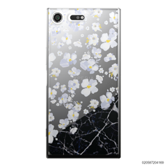 WHITE FLOWER AND BLACK MARBLE - Sony Xperia XZ Premium