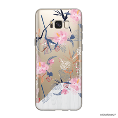 PINK FLOWER AND WHITE MARBLE - Samsung Galaxy S8