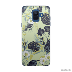 YELLOW  LUXURY FLORAL - Samsung Galaxy A6 2018