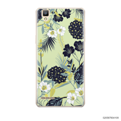 YELLOW  LUXURY FLORAL - Oppo F1