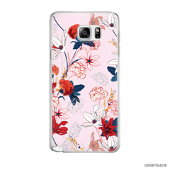 RED  LUXURY FLORAL - Samsung Galaxy Note 5