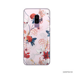 RED  LUXURY FLORAL - Samsung Galaxy S9 Plus