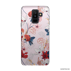 RED  LUXURY FLORAL - Samsung Galaxy A6 Plus 2018