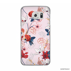 RED  LUXURY FLORAL - Samsung Galaxy S6