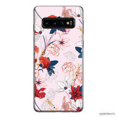 RED  LUXURY FLORAL - Samsung Galaxy S10