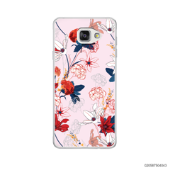 RED  LUXURY FLORAL - Samsung Galaxy A5 2016