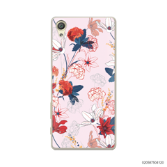 RED  LUXURY FLORAL - Sony Xperia X