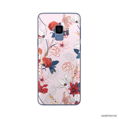 RED  LUXURY FLORAL - Samsung Galaxy S9