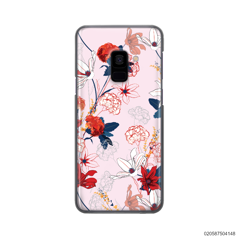 RED  LUXURY FLORAL - Samsung Galaxy A8 2018