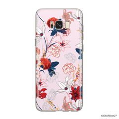 RED  LUXURY FLORAL - Samsung Galaxy S8