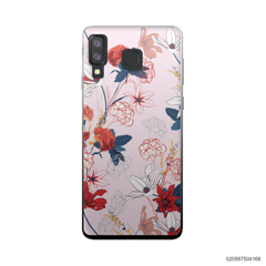 RED  LUXURY FLORAL - Samsung Galaxy A8 Star