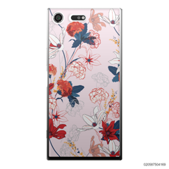RED  LUXURY FLORAL - Sony Xperia XZ Premium